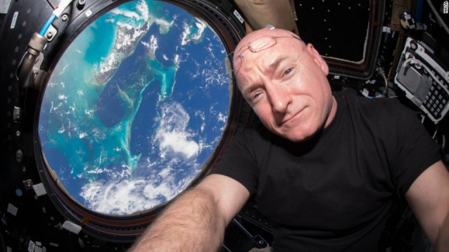Scott Kelly in Space