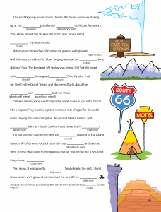 Road Trip Mad Libs