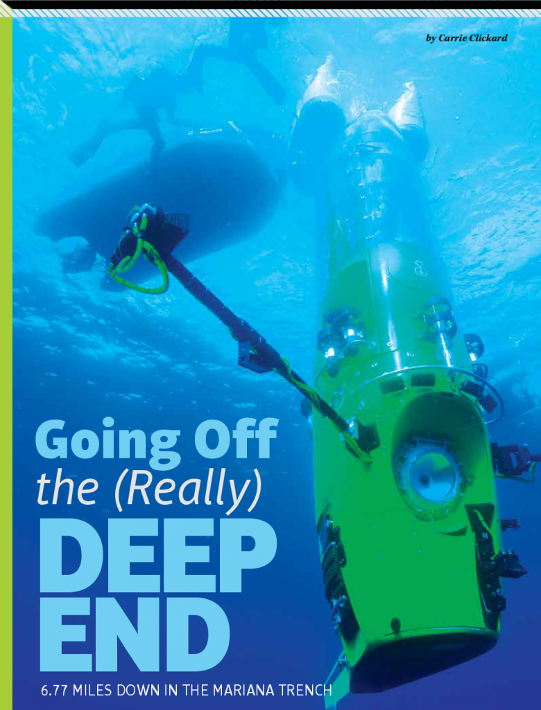 Going Off the (Really) 6.77 MILES DOWN IN THE MARIANA TRENCH
