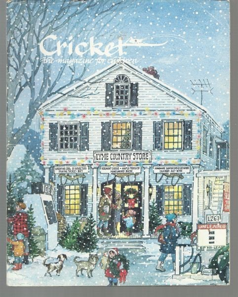 """December 1984; Cover art by Trina Schart Hyman """"Christmas is Coming"""""""