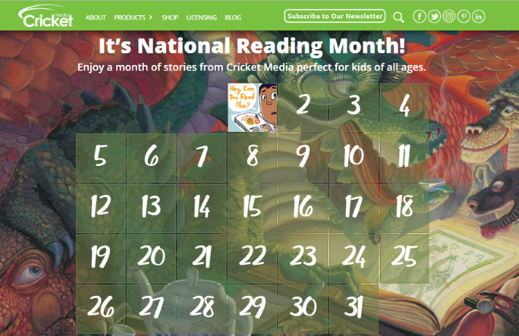 "National Reading Month - Ladybug January 2014 issue ""Dragon Talk"" art by Bryn Barnard"