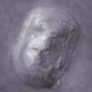 enhanced face on Mars