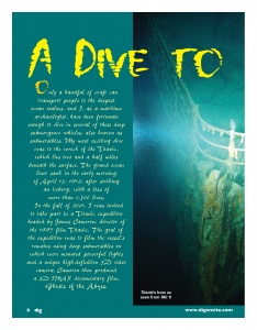 A Dive to the Titanic - Cricket Media