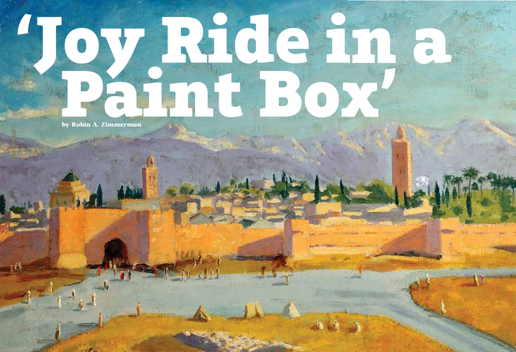"""Robin A. Zimmerman Dig Into History """"Joy Ride in a Paint Box"""" May/June 2015"""