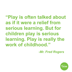 Fred Rogers quote about playing