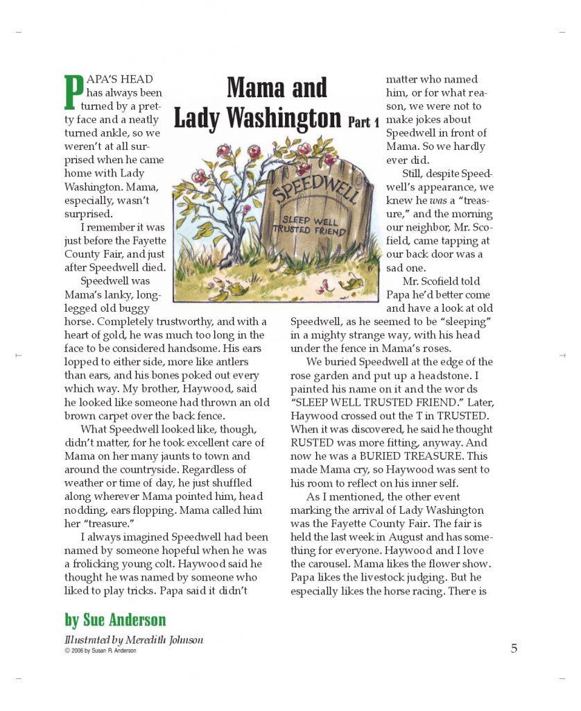 Mama and Lady Washington, Part 1