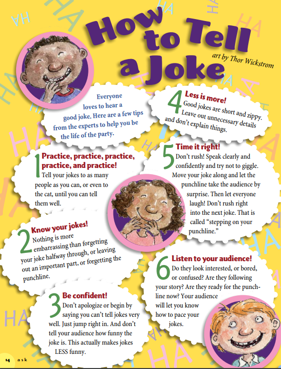 How to Tell a Joke - The Humor of Children has Groan in Significance