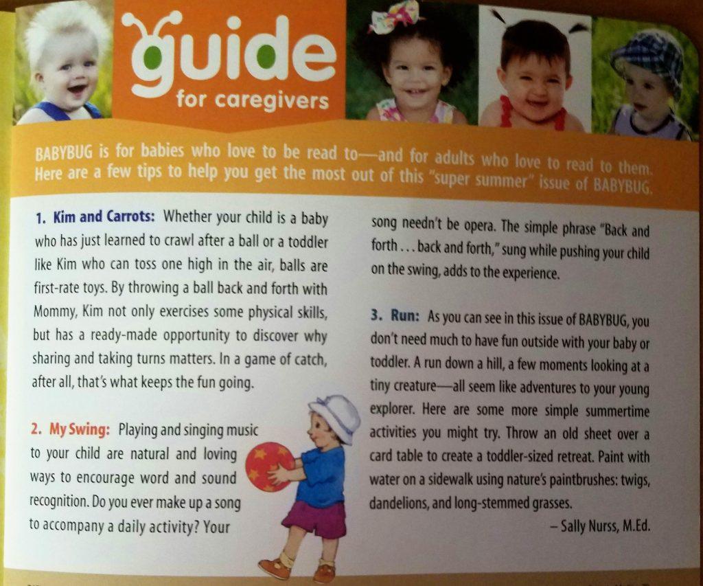 Caregiver guide - Babybug Magazine
