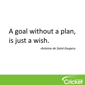 """""""A goal without a plan, is just a wish"""