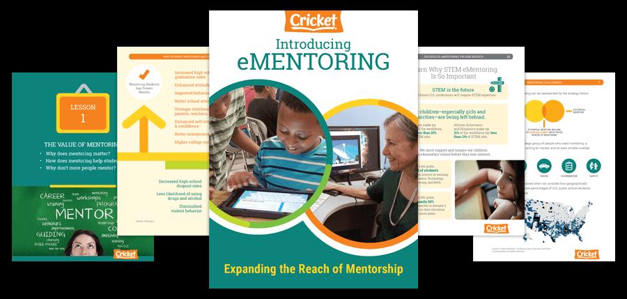 Cricket e-Mentoring book, expanding the reach of mentorship